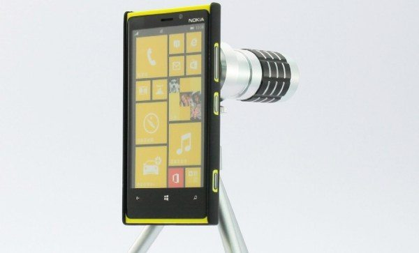 Nokia Lumia 920 case accessory with 12x optical zoom for PureView camera