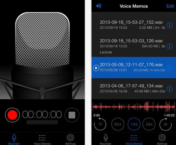 Voice Recorder HD app for iPhone gets nice update