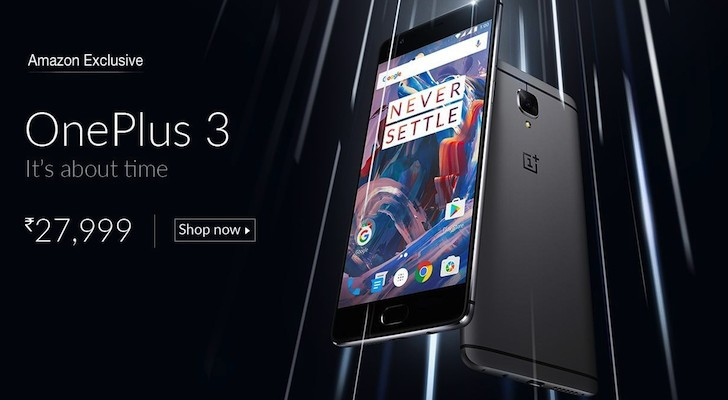OnePlus 3 price and specifications leak through Amazon listing
