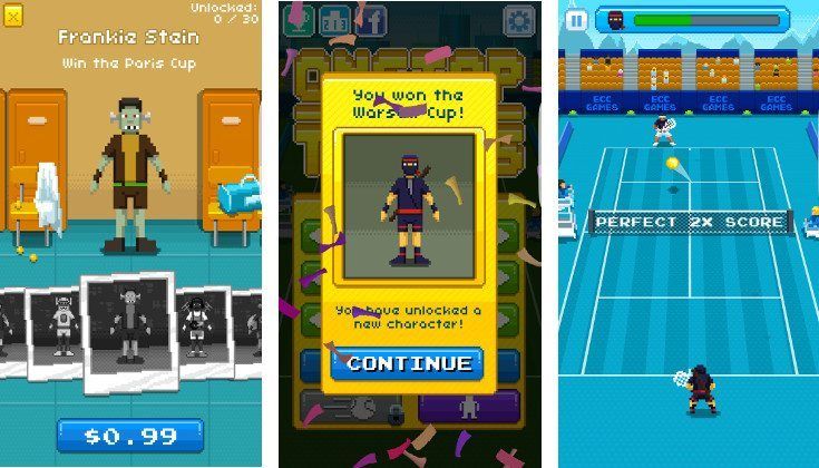 One Tap tennis game