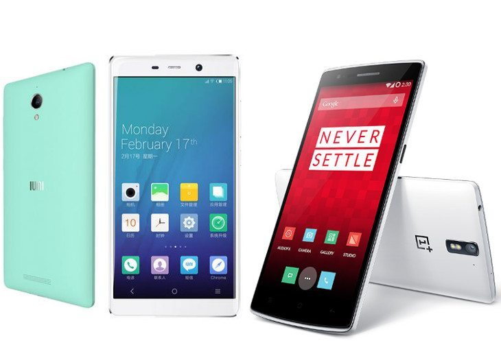 OnePlus One vs. IUNI U3 specs shootout