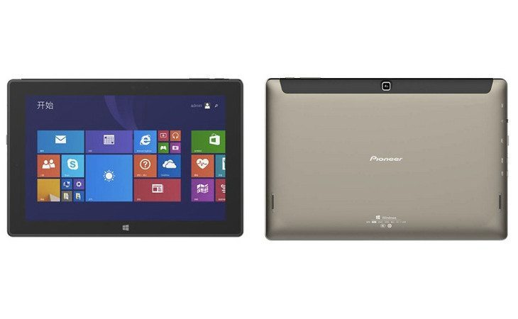 The Pioneer W10 specs show a new 64-bit Slate