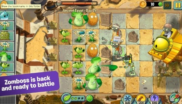 Plants vs Zombies 2 Android, iOS update changes
