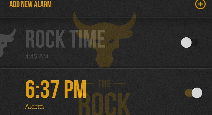 The Rock Clock app