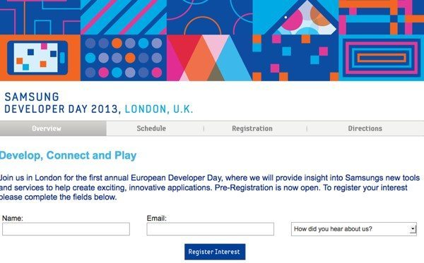 Samsung Developer Day London, registrations open