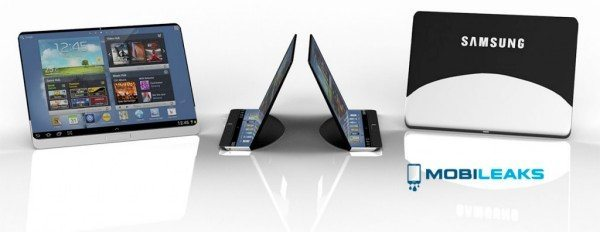 Samsung flexible tablet with edge to edge display flaunted
