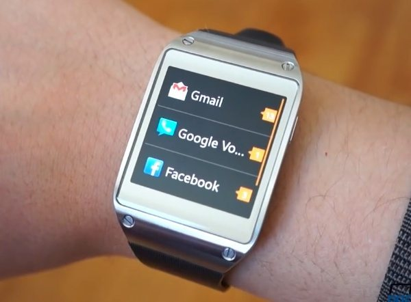 Samsung Galaxy Gear watch update video review