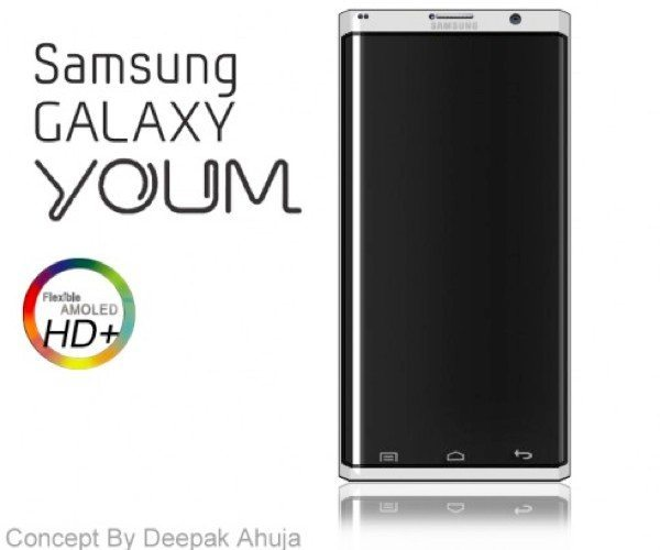 Samsung Galaxy Youm phone with flexible display envisioned