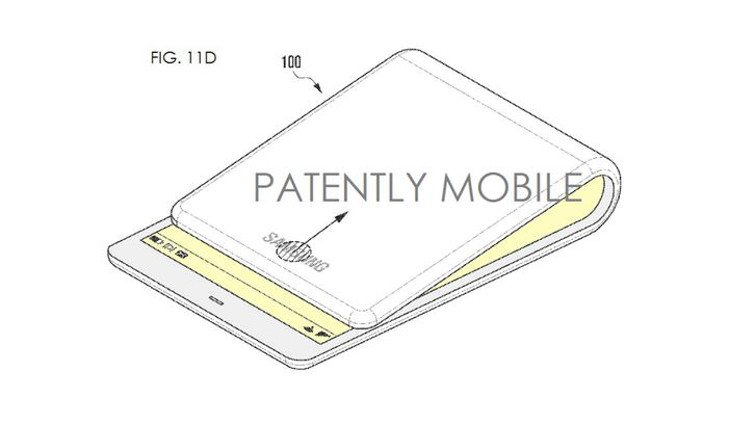 Samsung Foldable Smartphone patent shows bendable design