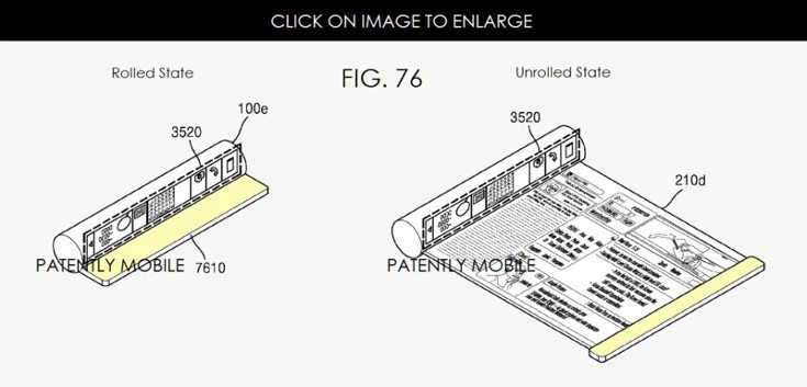 Foldable Smartphone patent reveals Scroll-like design from Samsung