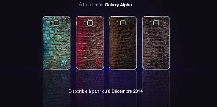 Limited Samsung Galaxy Alpha variant comes with a Leather Back