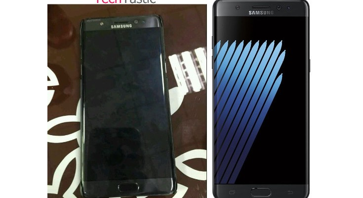Samsung Galaxy Note 7 Edge photo shows a prototype in the Wild