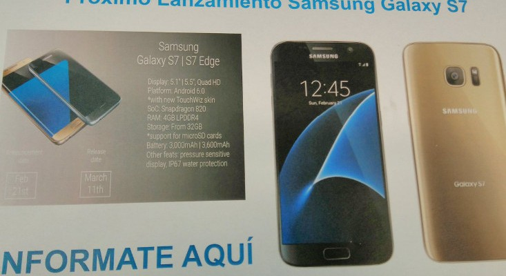 New Samsung Galaxy S7 leak sets a release date for March