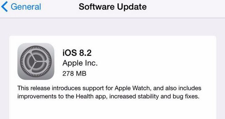 The Apple iOS 8.2 release arrives with Apple Watch support