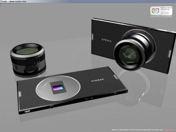 Sony Xperia with DSLR detachable camera lenses
