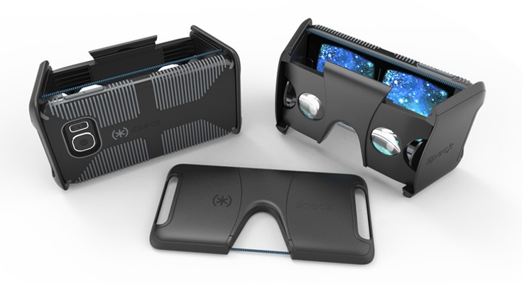 The Speck VR Headset is a foldable mobile VR solution