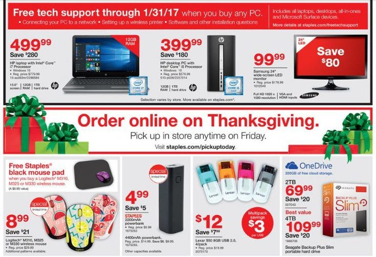 staples black friday 2016 ad