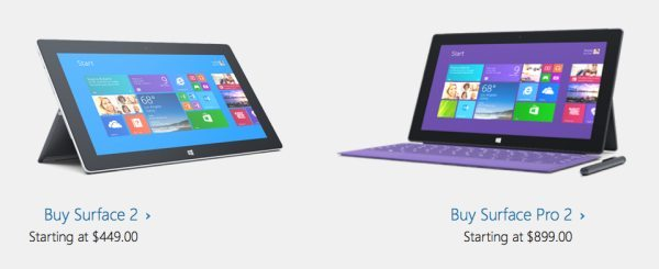 surface 2 and surface pro 2