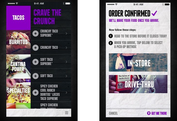 The Taco Bell App lets you order and pay from your Smartphone