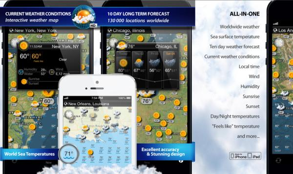 World Weather Map HD app for iOS will help plan that trip