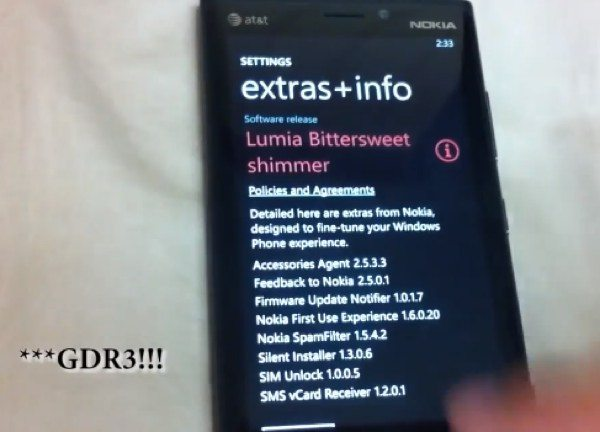 WP8 GDR3 and Nokia Bittersweet update, new features video