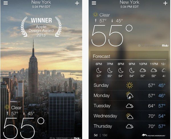 Yahoo Weather app update supports iPad