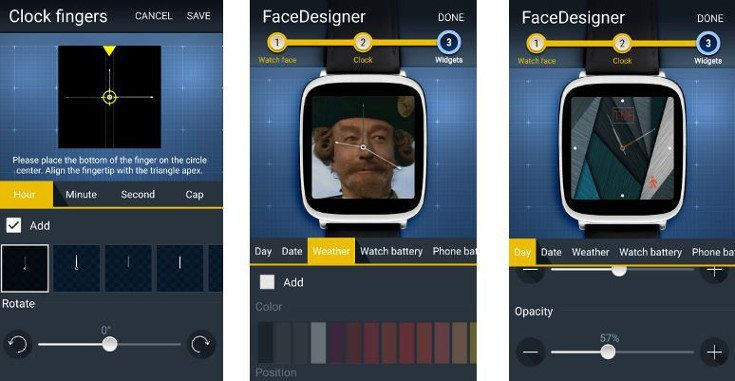 ZenWatch FaceDesigner App